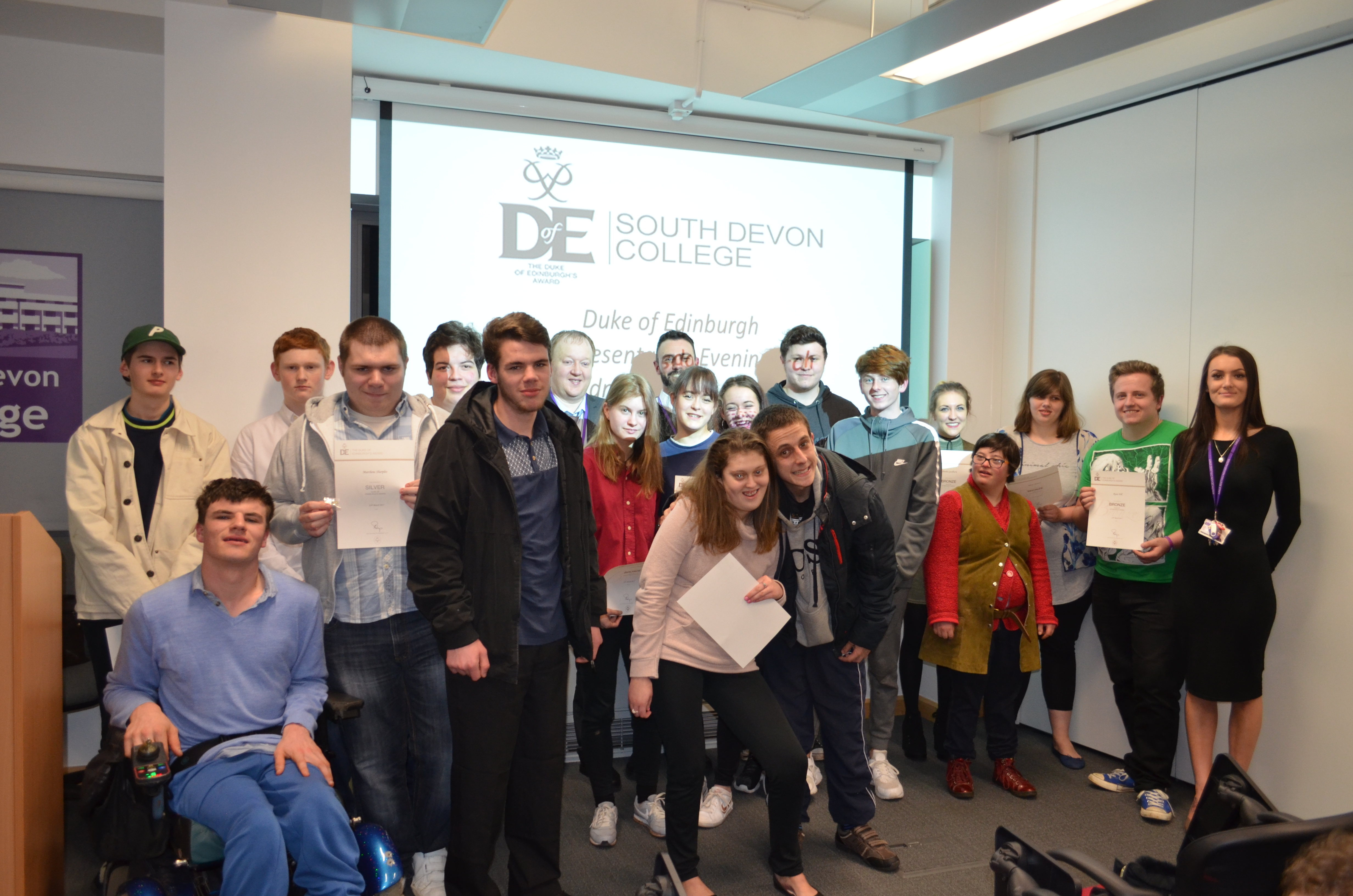 Duke of Edinburgh award ceremony