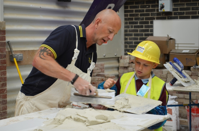 Primary school pupil having a go during Skillbuild competition 2017
