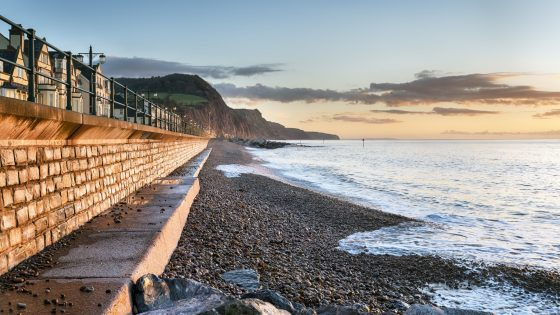 Sea defences.