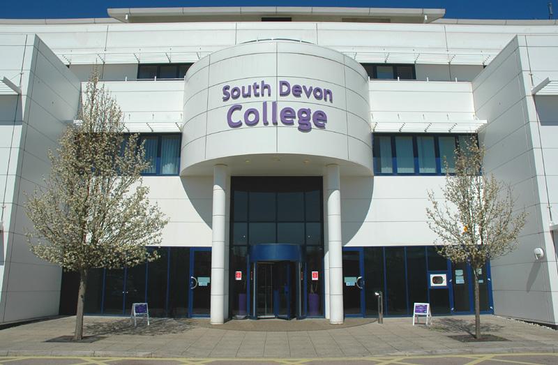 South Devon College main entrance