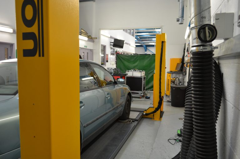 Automotive workshop at our Newton Abbot Campus