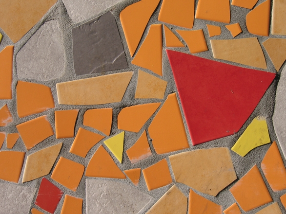 Orange and red abstract mosaic