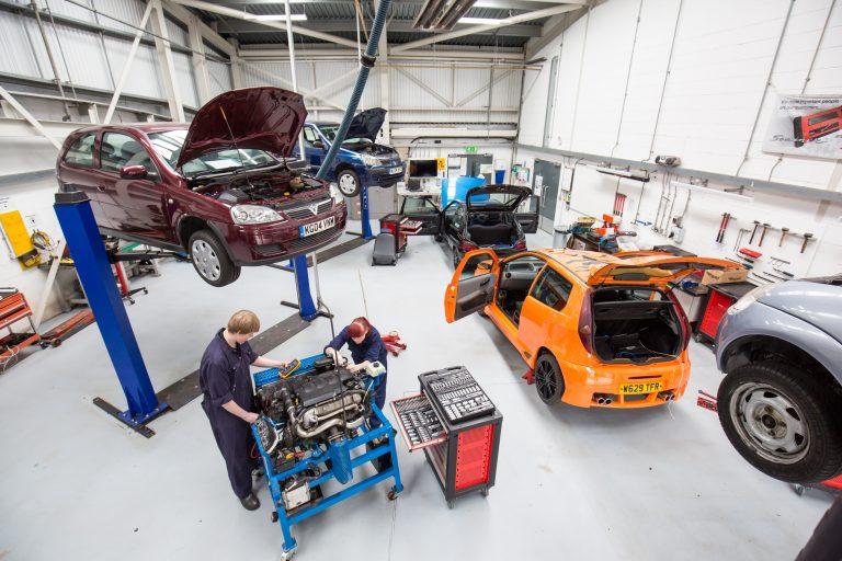 The automotive workshop