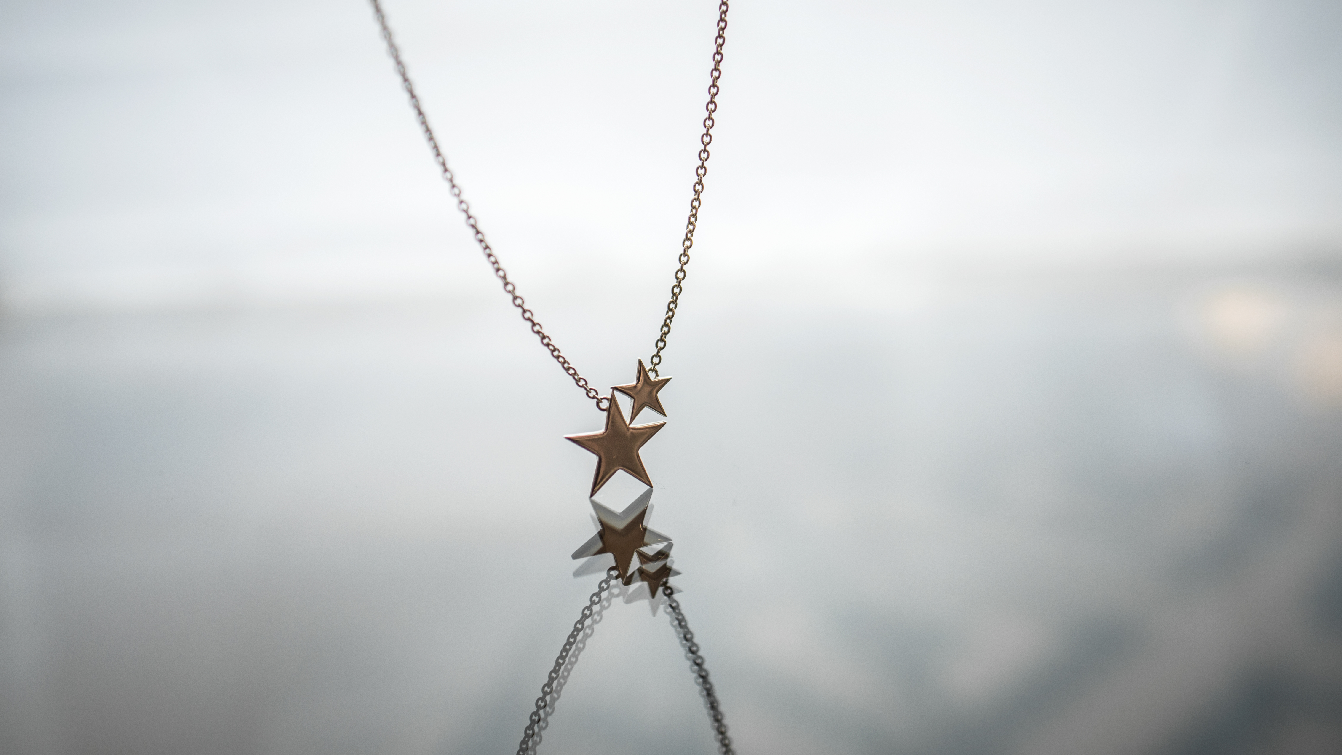 Star necklace.