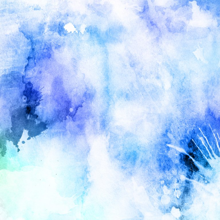 Blue watercolour background.