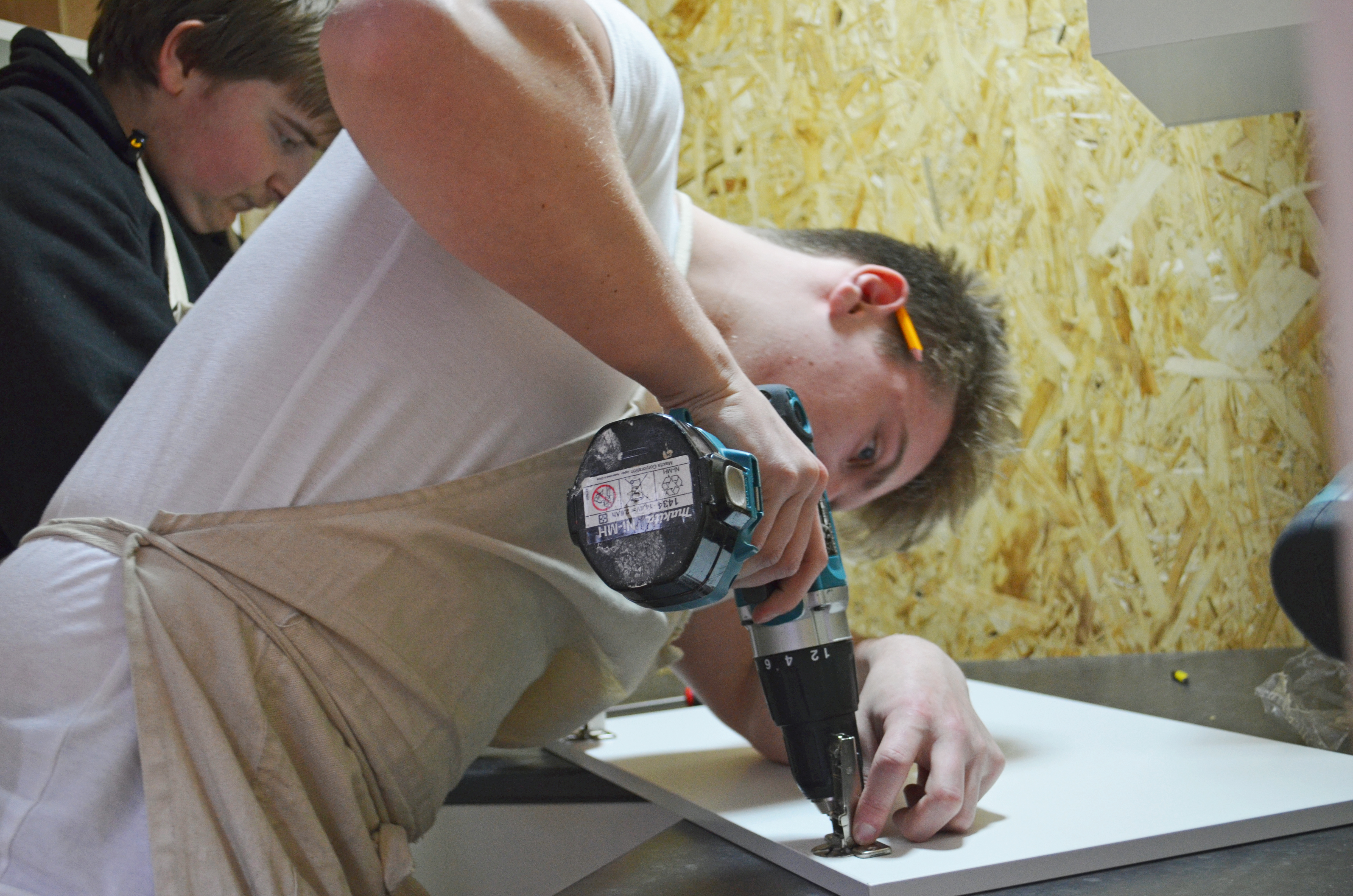 Carpentry student at Newton Abbot Campus.