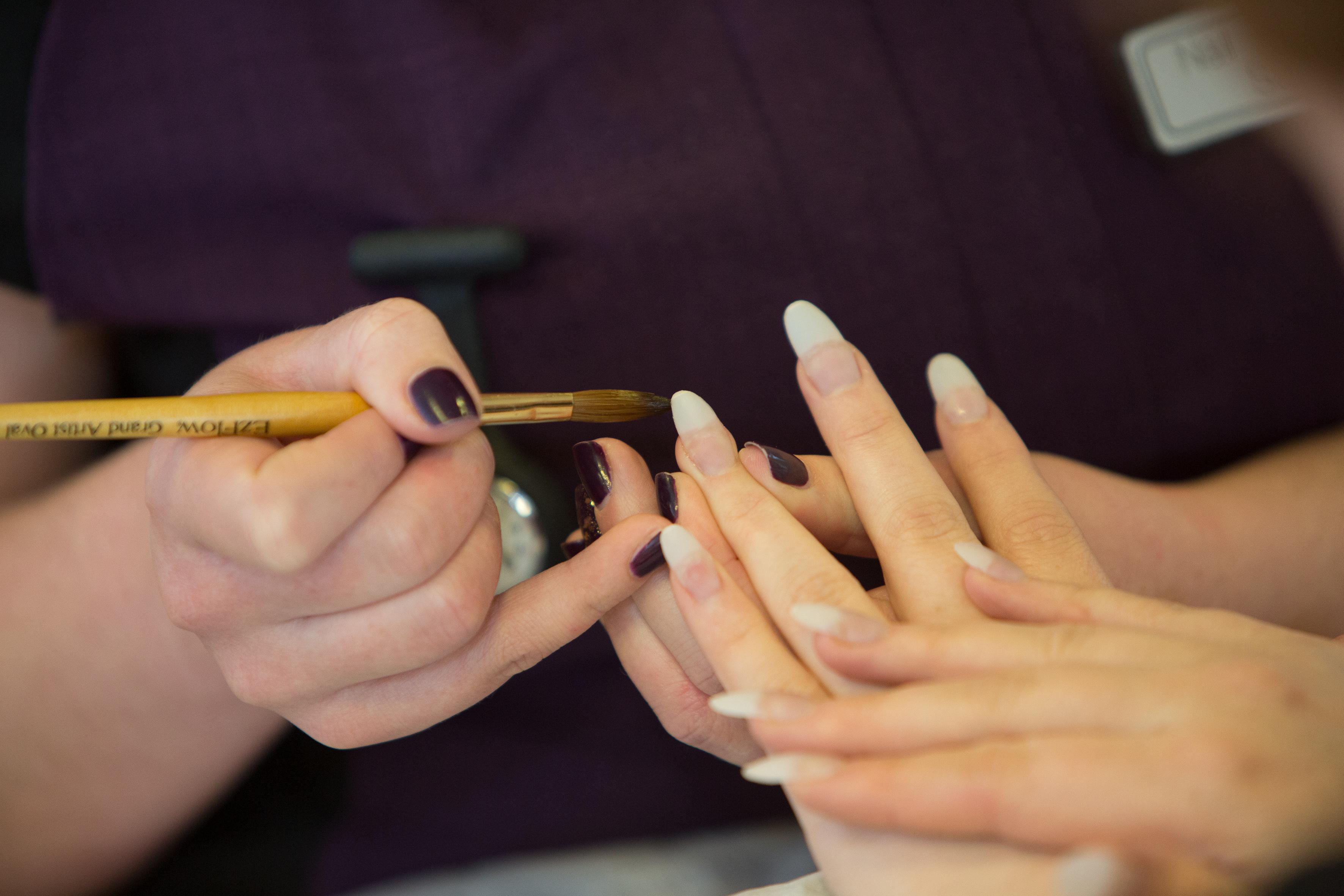 Close up shot of nails.