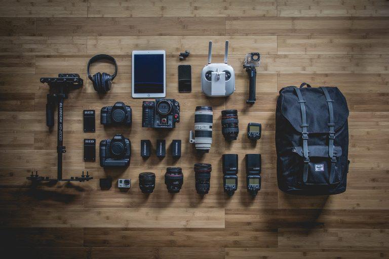 Camera equipment.