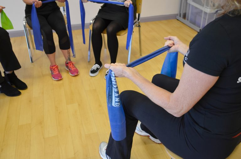 Chair based exercise instructor.