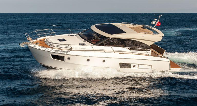 Motor yacht.