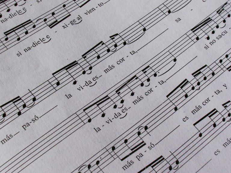 Sheet music.
