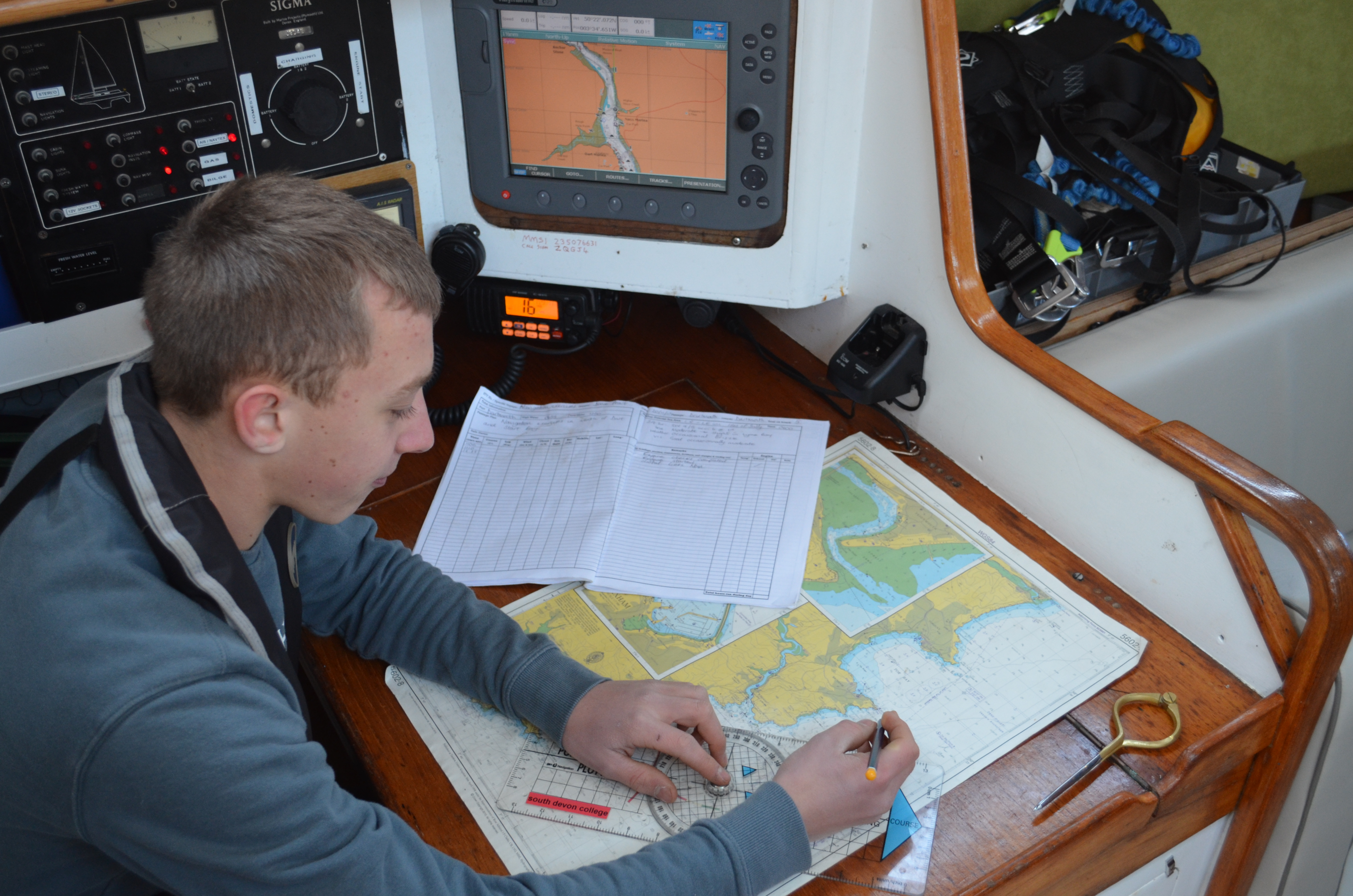 Yacht operations student.