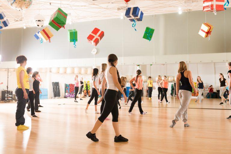 Women's dance class.