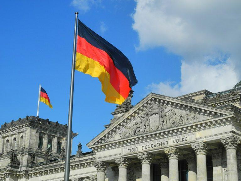 German flags.