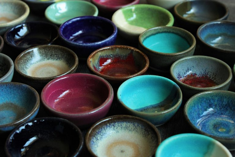 Completed ceramic bowls.