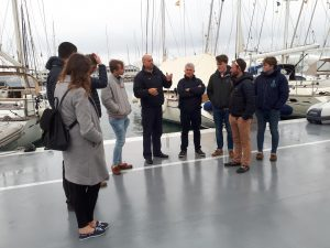 A group of yacht operations students in Palma.