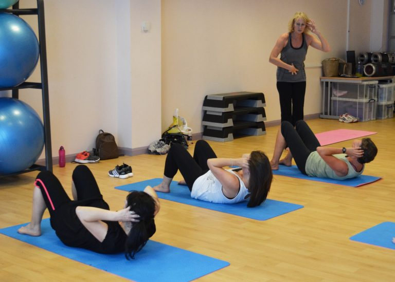 Pilates for beginners class.