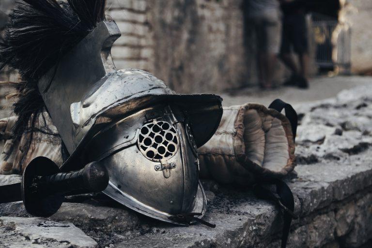 Gladiator helmet.