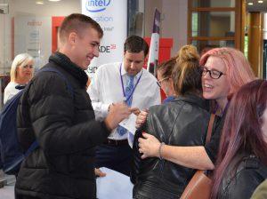 Sotuh Devon College student celebrating their GCSEs