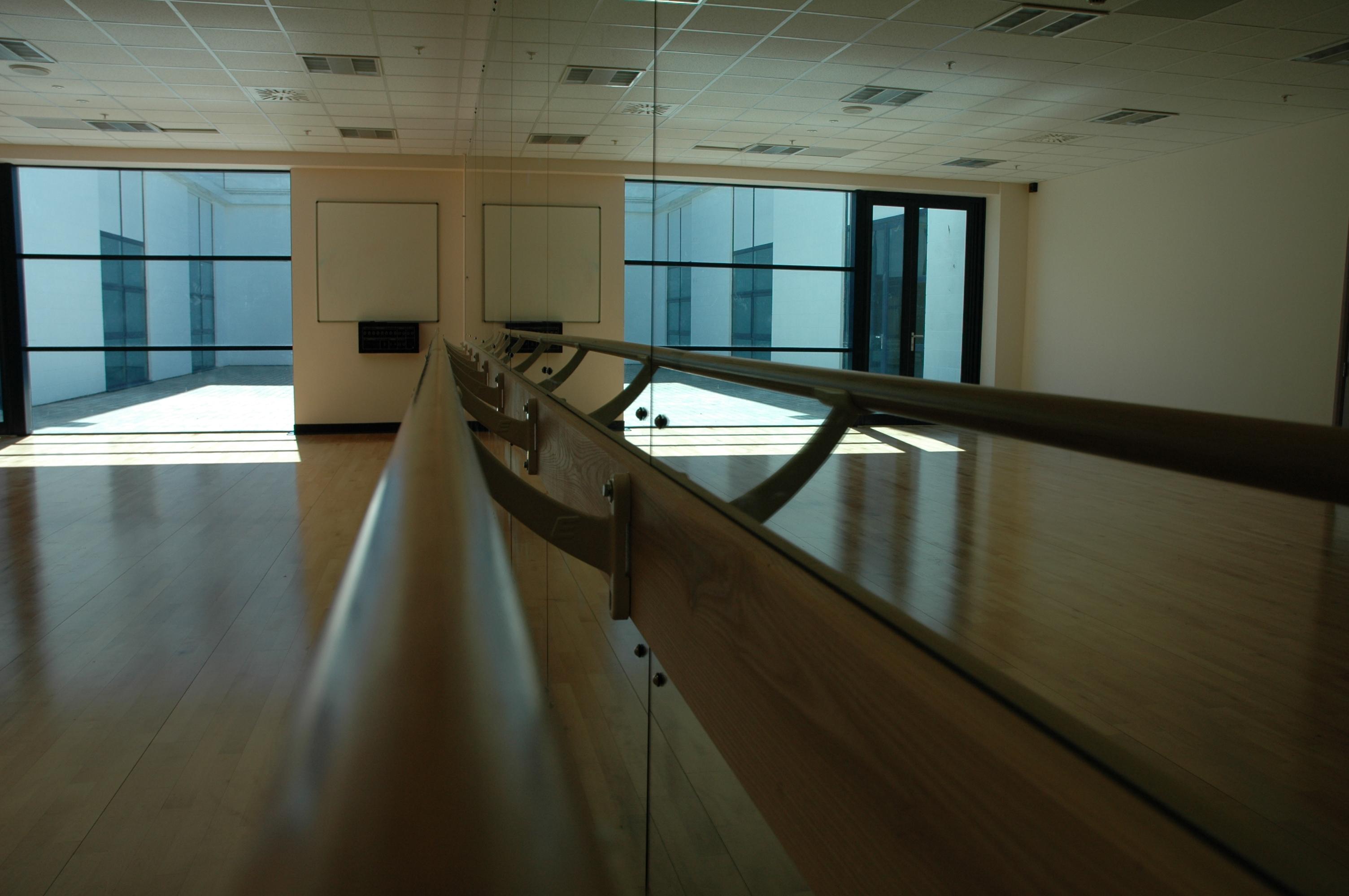 Dance studio at South Devon College.