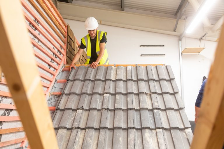 Roofing student.