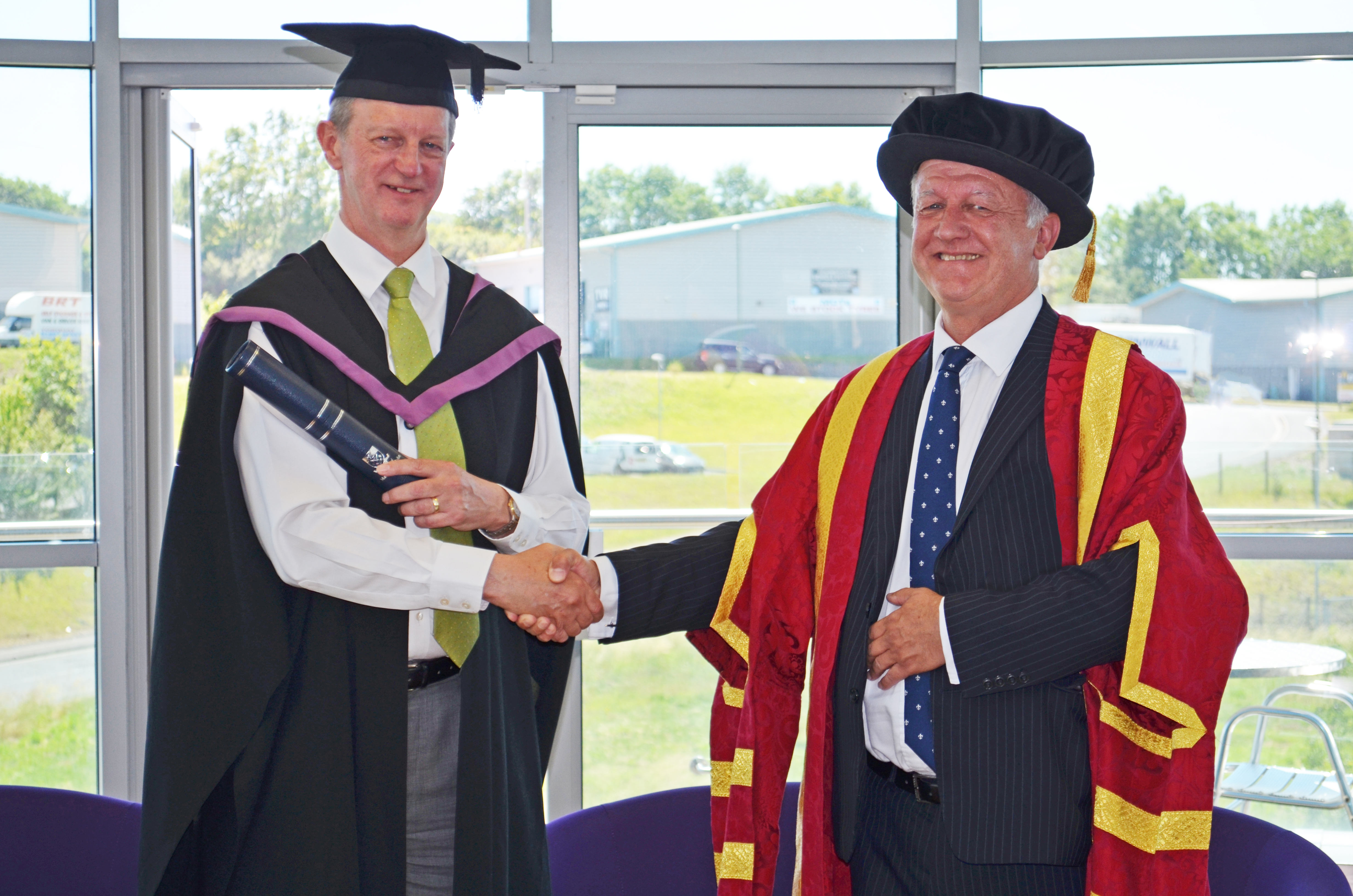 Stephen Criddle OBE Master of Education Honorary Degree