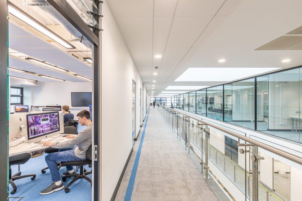 Internal view of top floor in the Hi Tech & Digital Centre