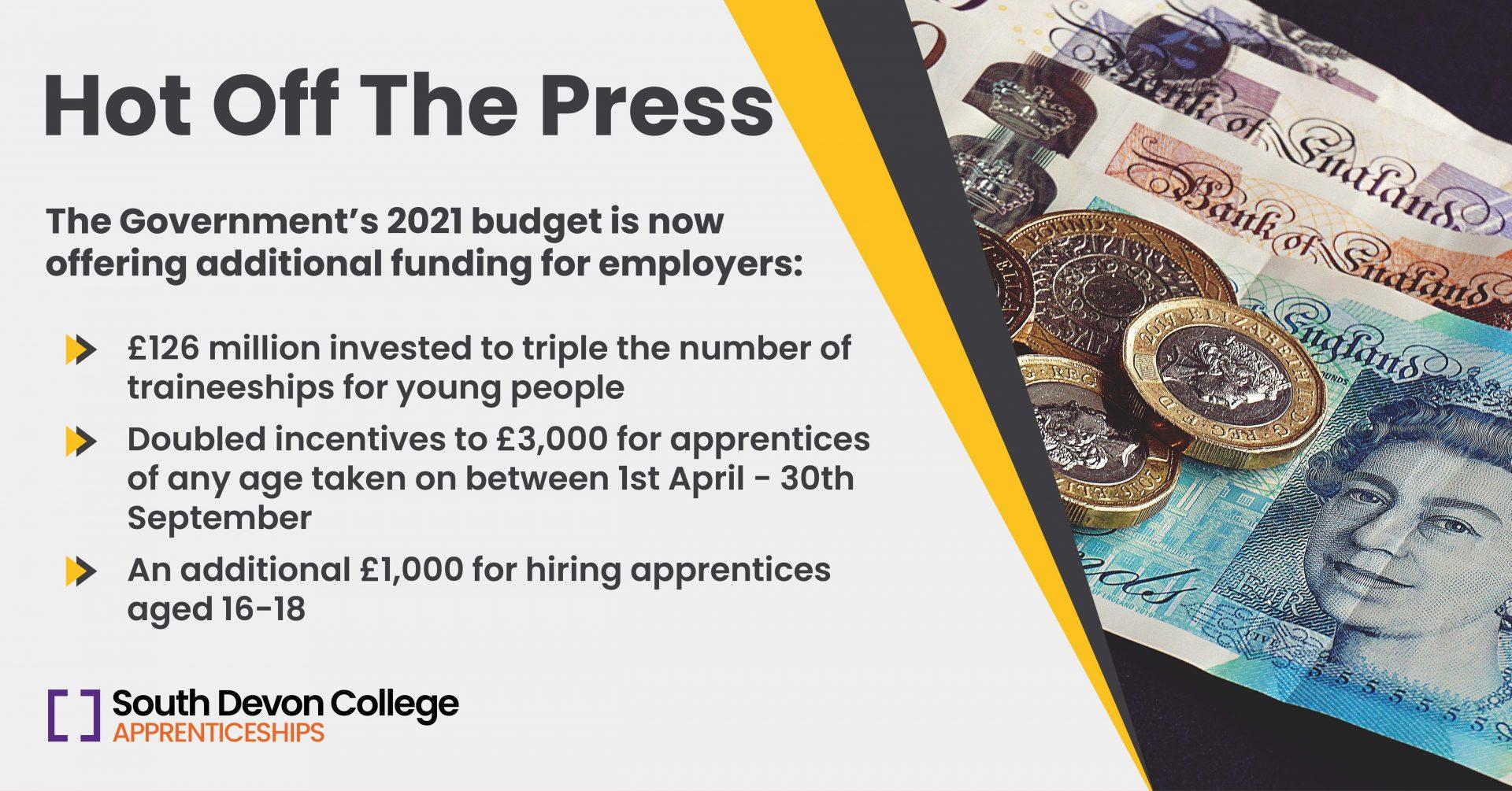 2021 budget apprenticeships