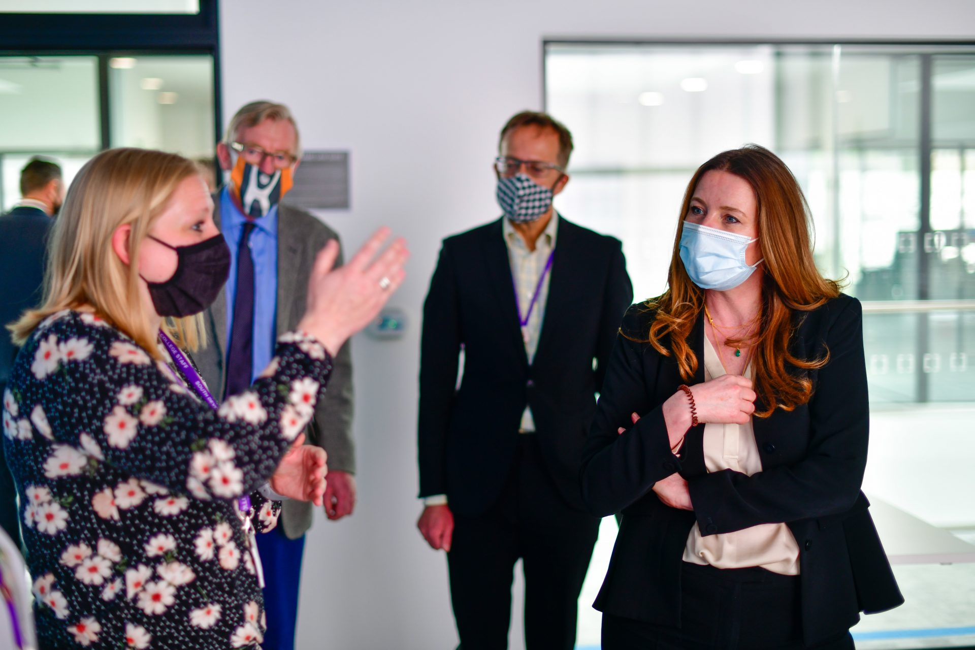 Gillian Keegan MP Minister for Apprenticeships and skills visits South Devon College