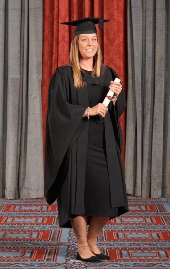 Kerry Mitchell sports therapist graduating